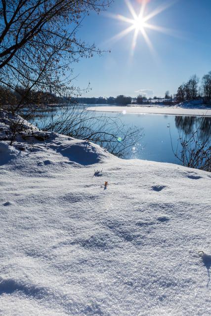 Donau im Winter bei Straubing
