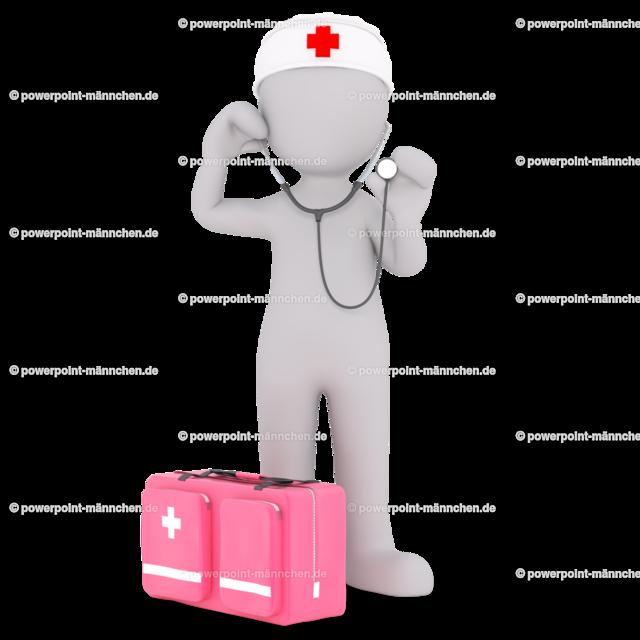 the nurse with the stetoscope | Quelle: https://3dman.eu   Jetzt 250 Bilder kostenlos sichern
