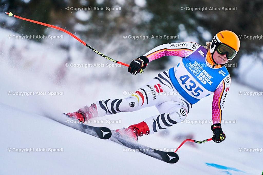 ALS5850_WWMG_GS-II_C | (C) FotoLois.com, Alois Spandl, WinterWorldMastersGames 2020 Innsbruck, Giant Slalom-II Gruppe C Damen, Patscherkofel Olympiaabfahrt, Mi 15. Jänner 2020.