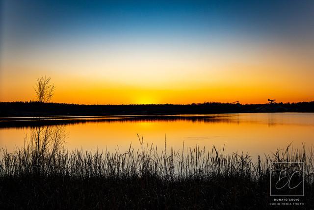 Langener Waldsee - Romantischer Sonnenuntergang