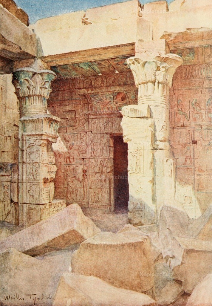 Tyndale_ W. (1855-1943) - Below the Cataracts 1907 - Temple of Der El-Medinet at Thebes