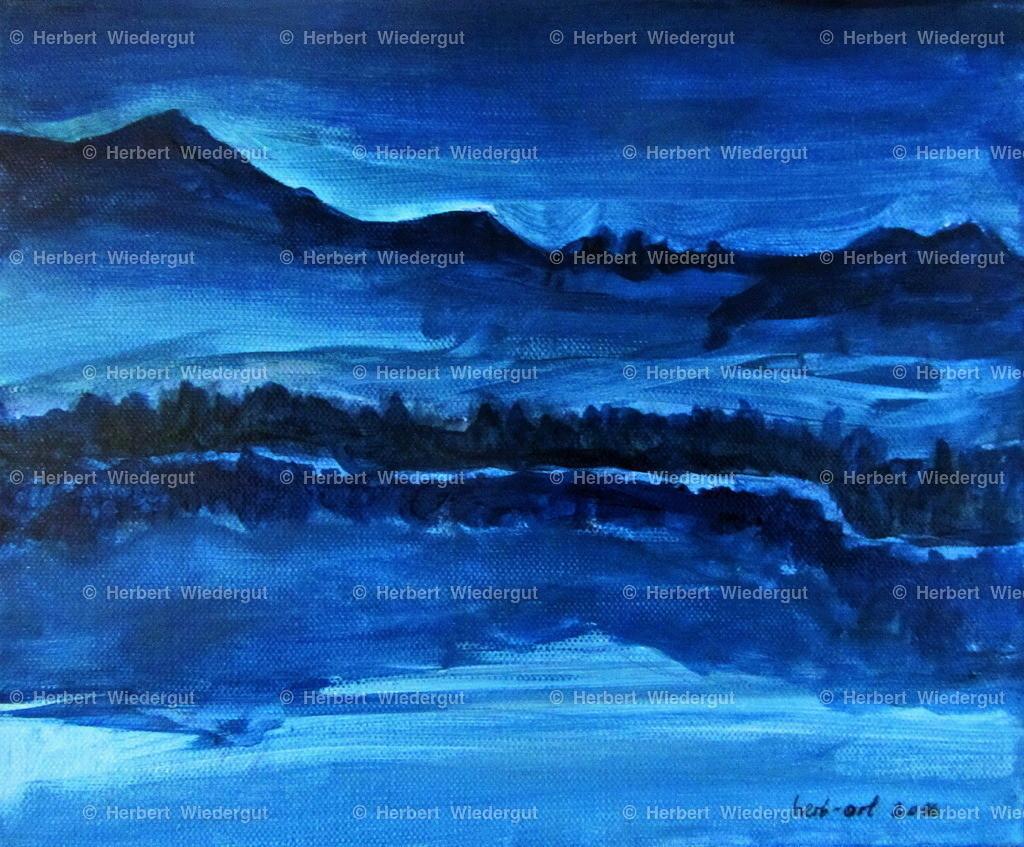 Faakersee in Blau 2016 | Acrylbild von Dr. Herbert Wiedergut, herb-art