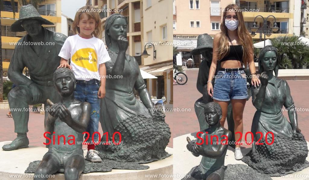 Sina 2010-2020_001 | Corona bestimmt, wenn wir auf den Urlaubsbilder wieder erkennen. Hier ein Foto von Sina vor der Figur