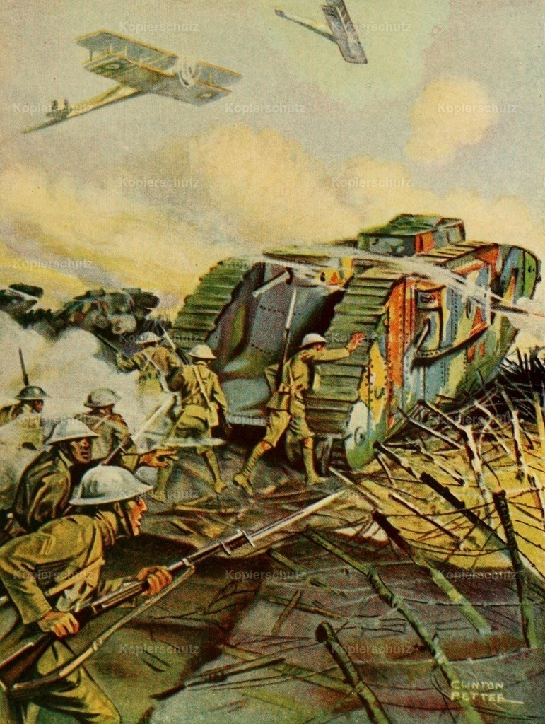 Pettee_ Clinton (1872-1937) - Story of the Great War 1919 - Tank moved on German lines