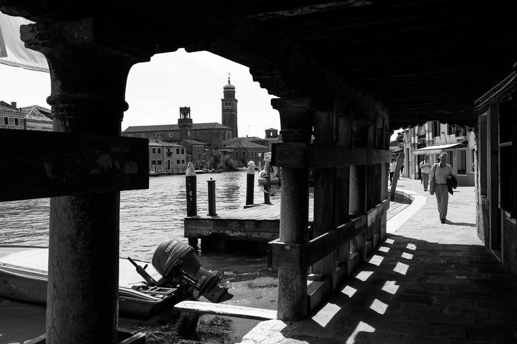 Straßenszene in Murano