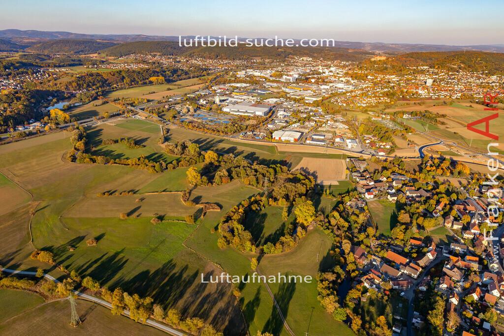 melkendorf-kulmbach-18-363   aktuelles Luftbild von Melkendorf Kulmbach - Luftaufnahme wurde 2018 von https://frankenair.de mittels Flugzeug (keine Drohne) erstellt.