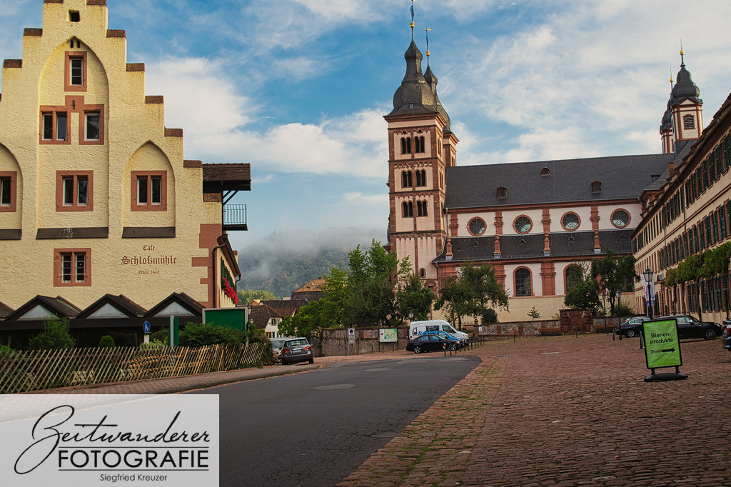 Schlossmühle und Abteikirche