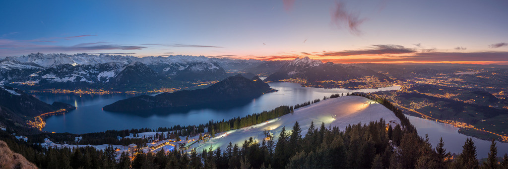 Finest Hour | New Year's Eve panorama over Lake Lucerne