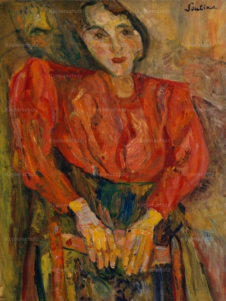 Soutine_ Chaim (1893-1943) - Woman in Red Blouse c.1919