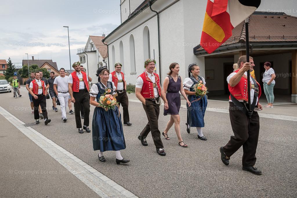 Schwingen -  Empfang Kranzgewinner, ESAF Zug 2019 2019   Gais, 28.8.19, Schwingen - Empfang Kranzgewinner, ESAF Zug 2019. (Lorenz Reifler)