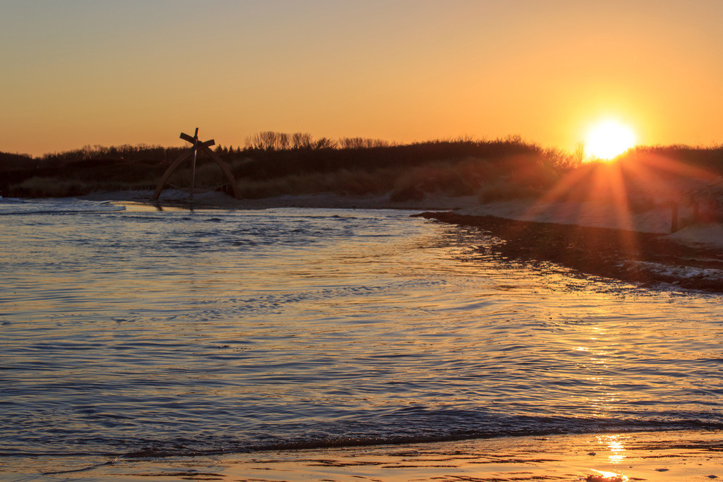 Sonnenuntergang an der Ostsee | Sonnenuntergang in Damp