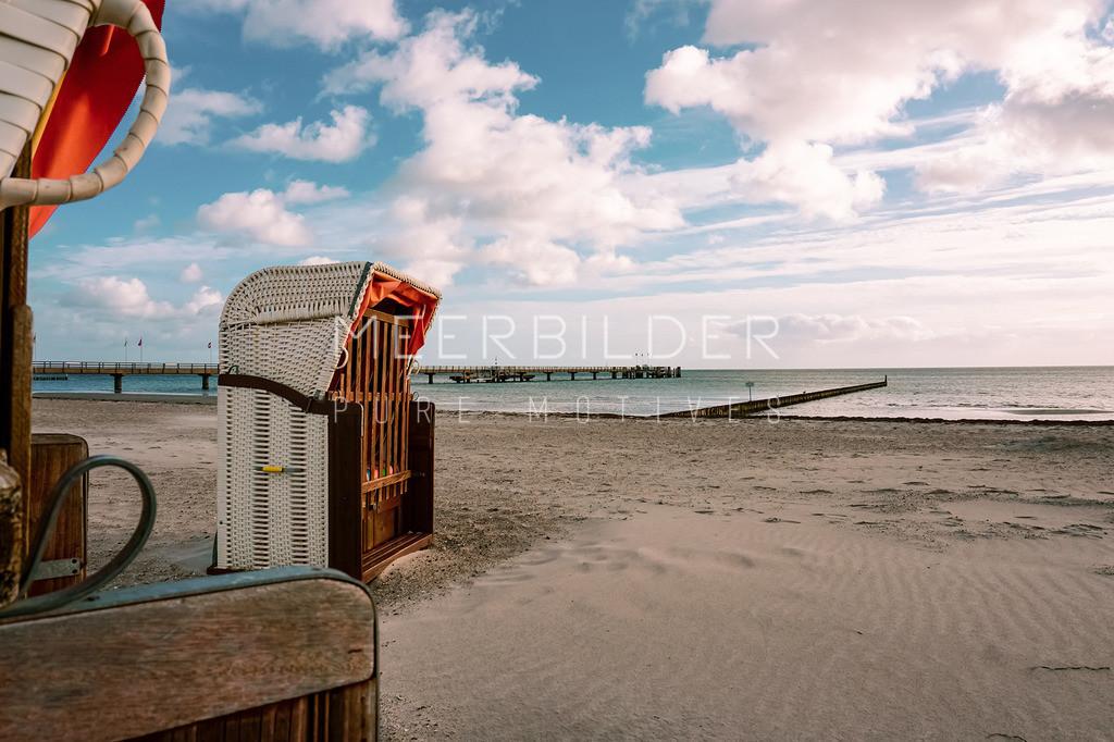 Strandkörbe auf Fotoleinwand