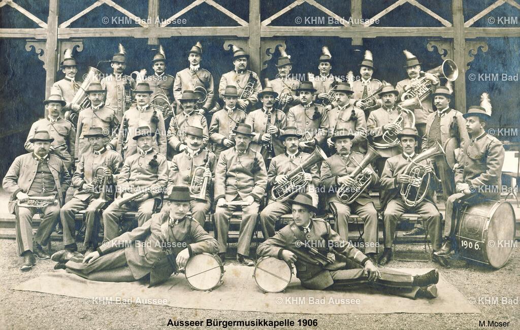 Ausser_Bürgermusikkapelle_1906 | fotografiert von Michale Moser 1906