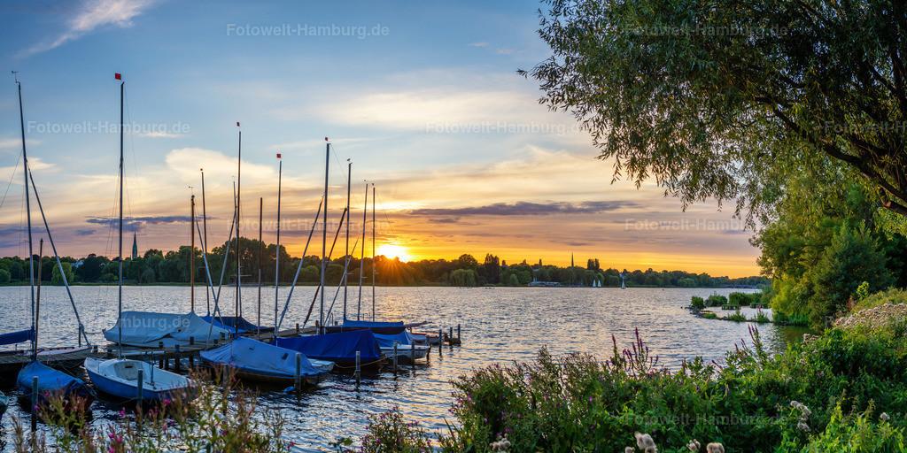 10210405 - Sommerabend an der Alster | Sommerliche Abendstimmung an der Aussenalster.