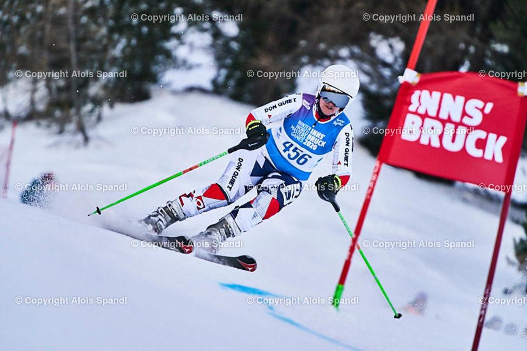 ALS5960_WWMG_GS-II_C | (C) FotoLois.com, Alois Spandl, WinterWorldMastersGames 2020 Innsbruck, Giant Slalom-II Gruppe C Damen, Patscherkofel Olympiaabfahrt, Mi 15. Jänner 2020.