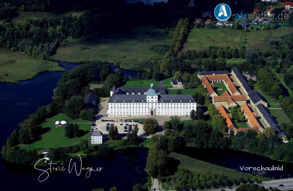 Luftbild Schloss Gottorf - Schleswig am Ostseefjord Schlei | Schleswig, Schloss Gottorf • max. 6240 x 4160 pix