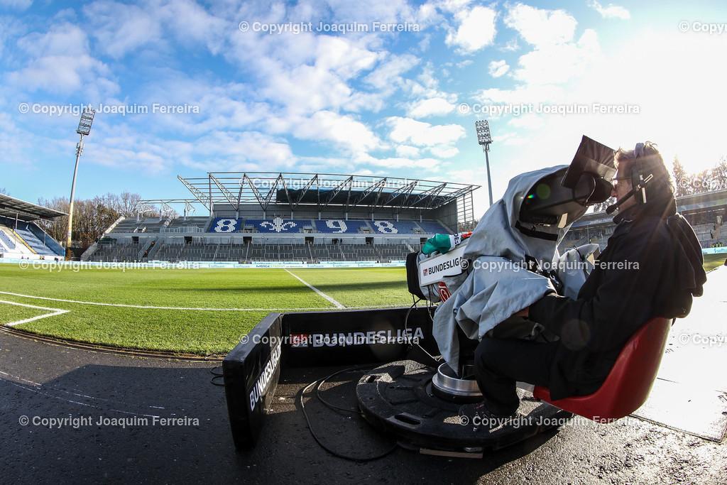 191221svdvshsv_0040 | 21.12.2019 Fussball 2.Bundesliga, SV Darmstadt 98-Hamburger SV emspor, despor  v.l.,  Innenansicht Merckstadion am Böllenfalltor, Tor, Gegentribuene, Im Fokus, Kameramann    (DFL/DFB REGULATIONS PROHIBIT ANY USE OF PHOTOGRAPHS as IMAGE SEQUENCES and/or QUASI-VIDEO)