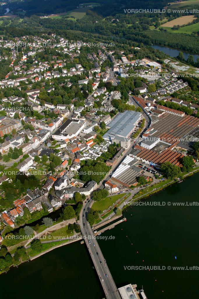 KT10094262a | Ringstrasse, Kettwig, Ruhr, Luftbild,  Essen, Ruhrgebiet, Nordrhein-Westfalen, Germany, Europa, Foto: hans@blossey.eu, 05.09.2010