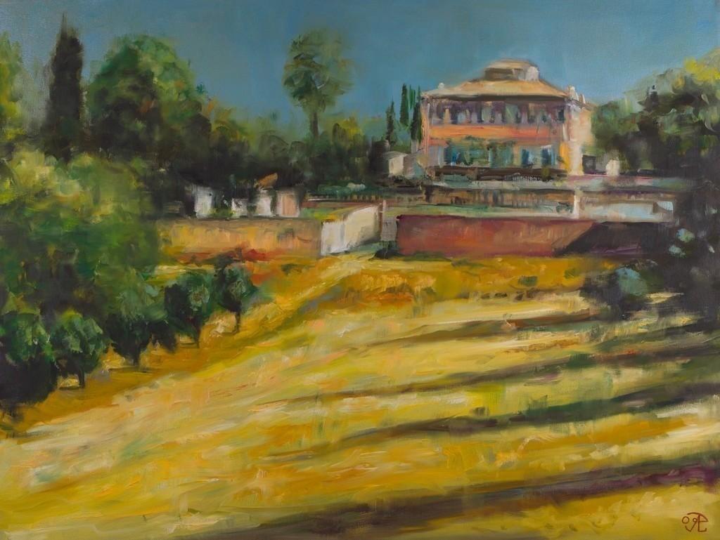 Italienische Villa | Originalformat: 60x80cm  -   Produktionsjahr: 2009