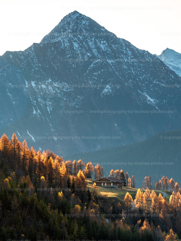 Schrofenalm Tux im Herbst 2