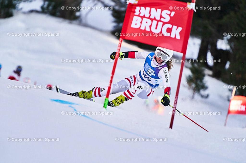 ALS5996_WWMG_GS-II_C   (C) FotoLois.com, Alois Spandl, WinterWorldMastersGames 2020 Innsbruck, Giant Slalom-II Gruppe C Damen, Patscherkofel Olympiaabfahrt, Mi 15. Jänner 2020.