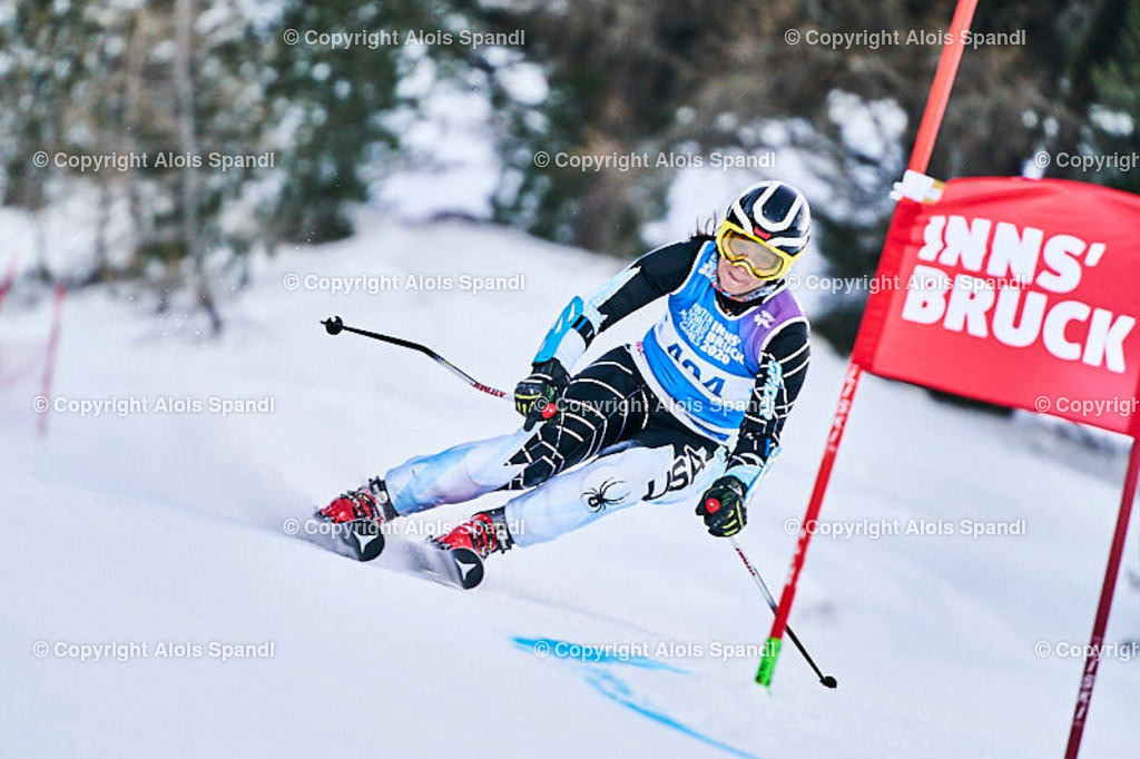 ALS5703_WWMG_GS-II_C   (C) FotoLois.com, Alois Spandl, WinterWorldMastersGames 2020 Innsbruck, Giant Slalom-II Gruppe C Damen, Patscherkofel Olympiaabfahrt, Mi 15. Jänner 2020.