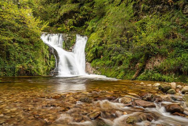 Allerheiligen-Wasserfall im Schwarzwald   Der Allerheiligen-Wasserfall liegt in der Nähe von Oppenau im Nordschwarzwald.  Er fällt über sieben Stufen insgesamt 83 m in die Tiefe und ist auf guten Wanderwegen leicht erreichbar. In der Nähe befinden sich die Ruinen des Klosters Allerheiligen, woher die Wasserfälle auch den Namen haben. Eine sehr schöne Gegend für entspannte Ausflüge in die Natur.