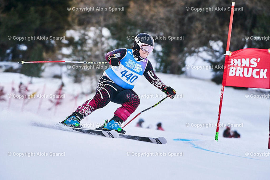 ALS5874_WWMG_GS-II_C | (C) FotoLois.com, Alois Spandl, WinterWorldMastersGames 2020 Innsbruck, Giant Slalom-II Gruppe C Damen, Patscherkofel Olympiaabfahrt, Mi 15. Jänner 2020.
