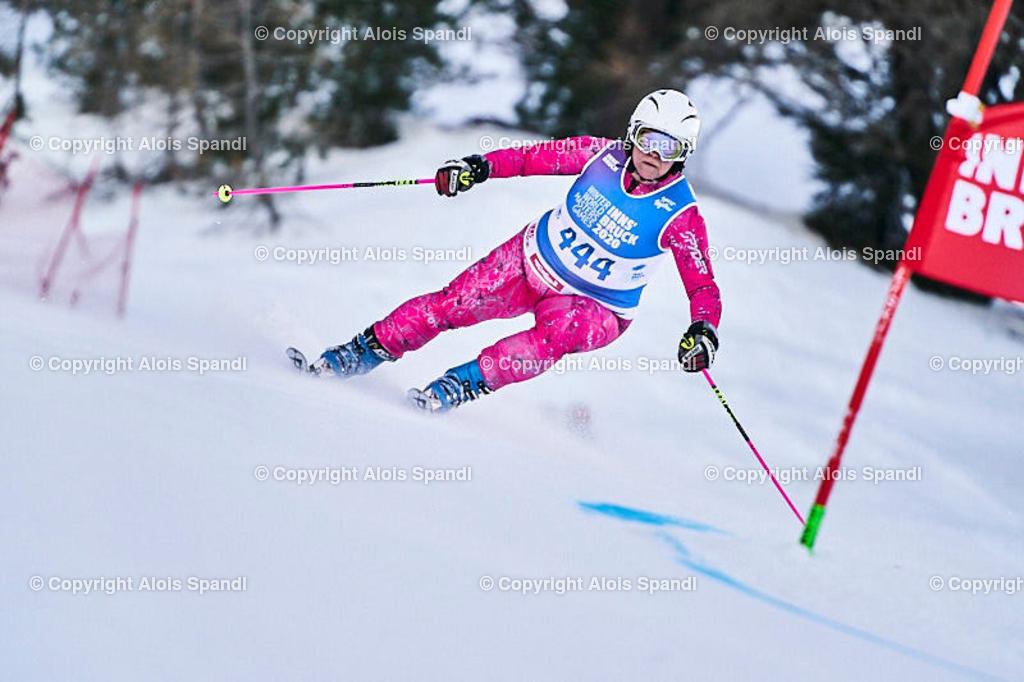 ALS5895_WWMG_GS-II_C | (C) FotoLois.com, Alois Spandl, WinterWorldMastersGames 2020 Innsbruck, Giant Slalom-II Gruppe C Damen, Patscherkofel Olympiaabfahrt, Mi 15. Jänner 2020.