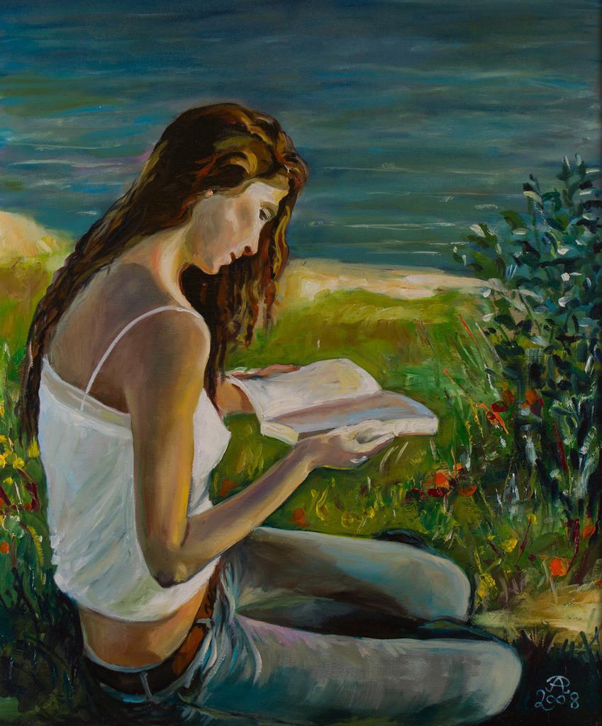 Lesendes Mädchen | Originalformat: 60x50cm  -  Produktionsjahr: 2008