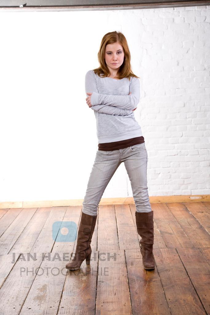 Josefine Preuß   Fototermin zur ARD Vorabendserie