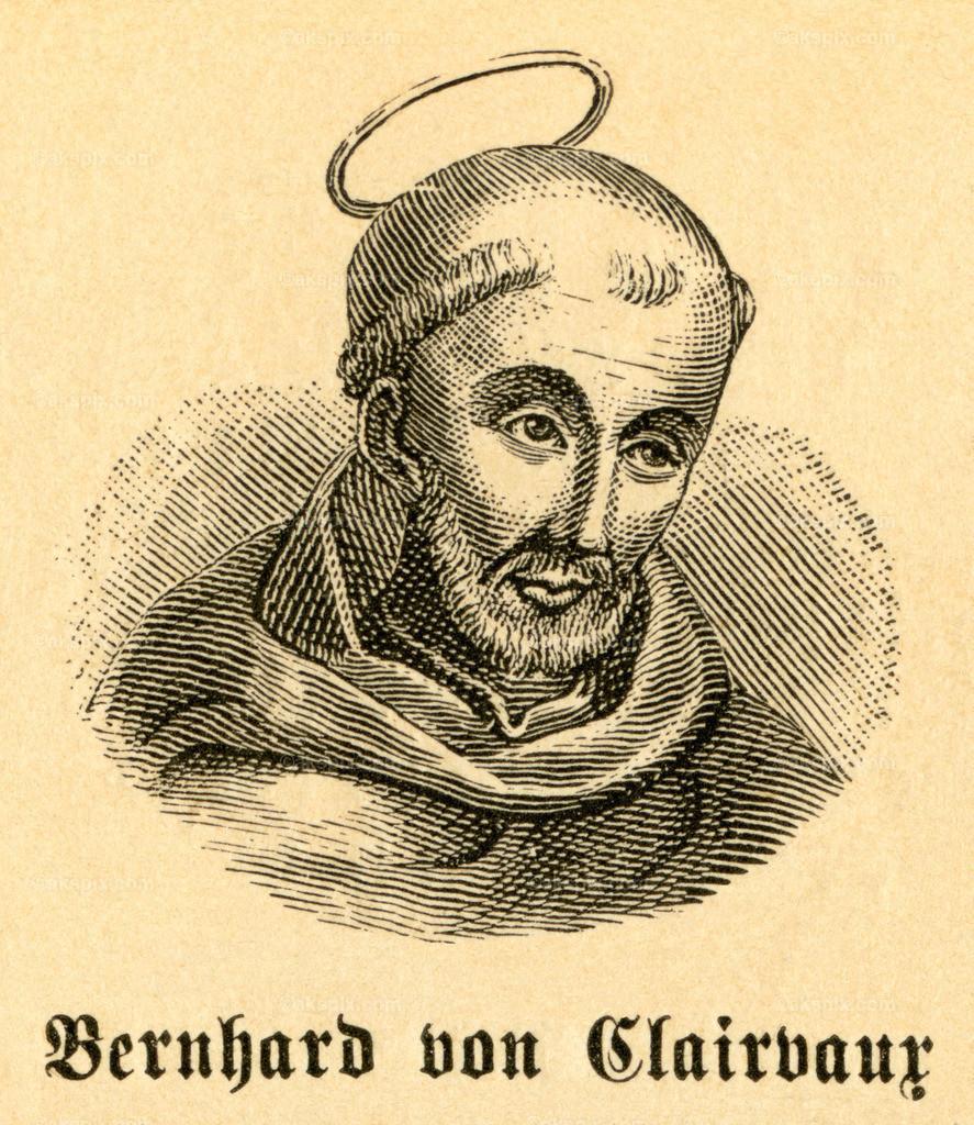 Bernhard von Clairvaux / Bernard of Clairvaux   Europa, Frankreich, Fontaine-lés-Dijon , Bernhard von Clairvaux,  katholischer Theologe, Motiv aus :