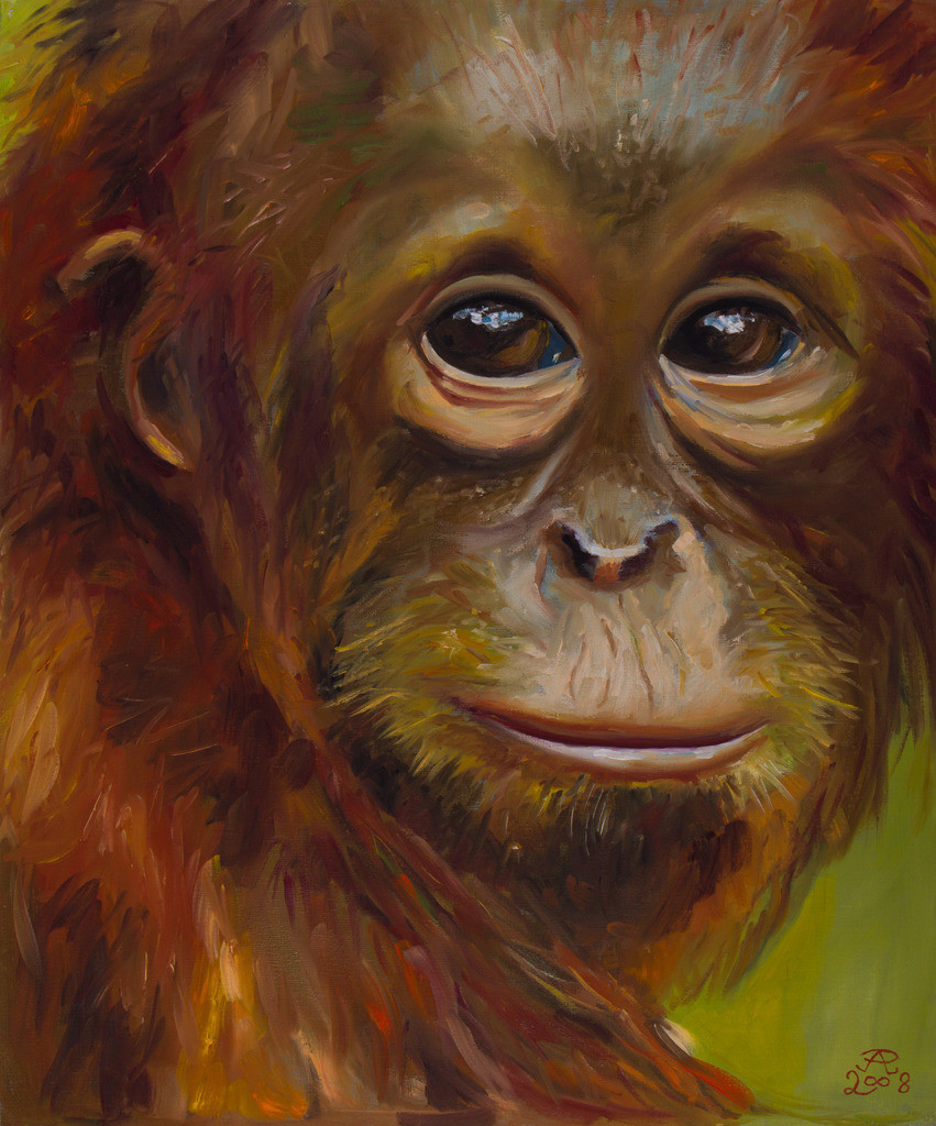 Der Affe | Originalformat: 60x50cm - Produktionsjahr: 2008