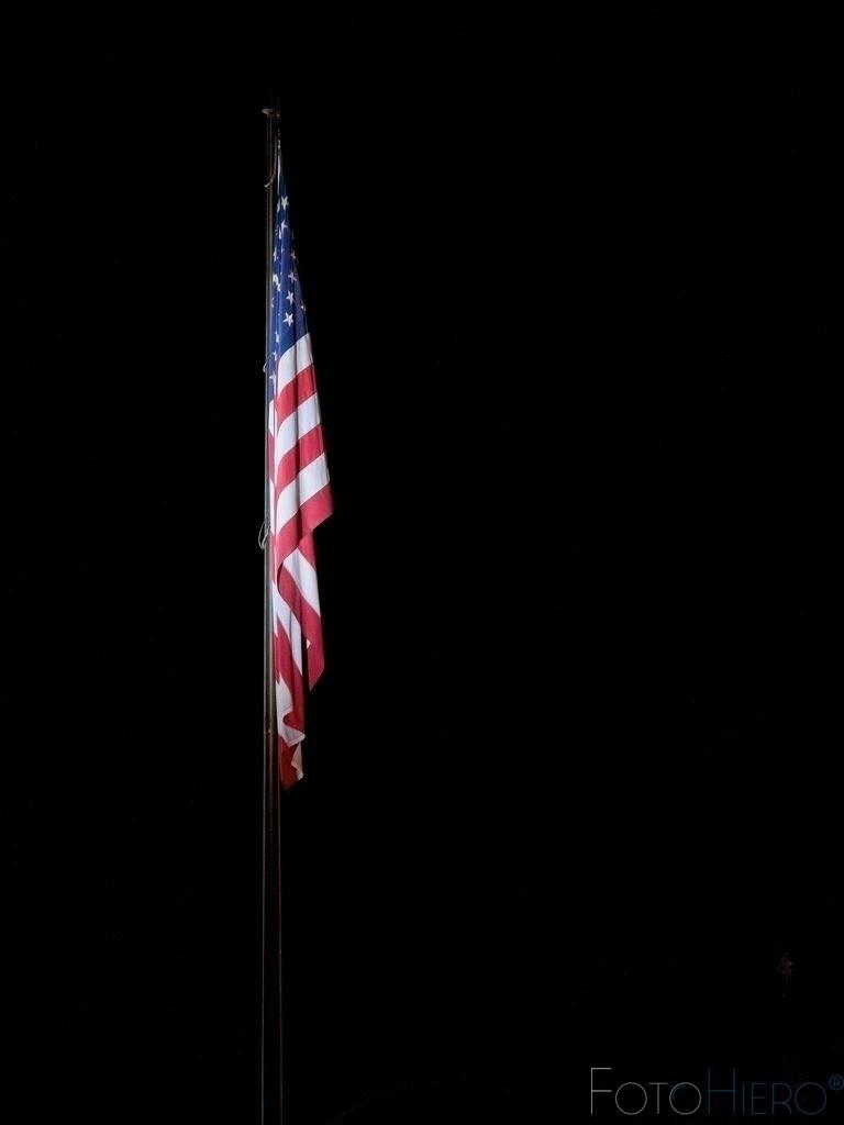 Nationalflagge USA | Nationalflasgge der USA bei Nacht
