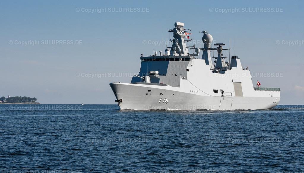 Das Dänische Kommando- und Unterstützungsschiff  L 16