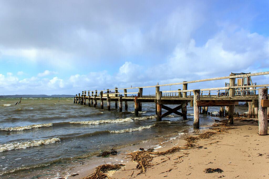 Strand in Wackerballig | Strand in Wackerballig im Frühling