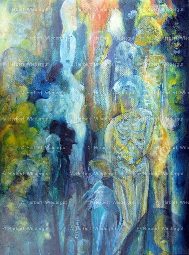 Versammlung | Ölgemälde von Dr. Herbert Wiedergut