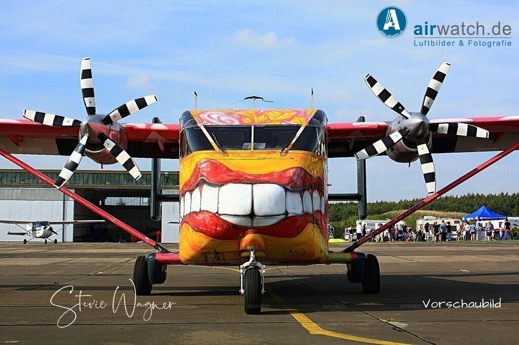 Flying Shoebox - Short S.C.7 Skyvan auf dem Flugplatz Husum-Schwesing | Flughafen Husum, Skyvan SC7 • max. 4272 x 2848 pix