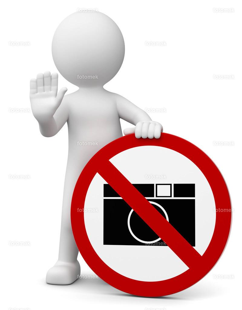 3d Männchen fotografieren verboten