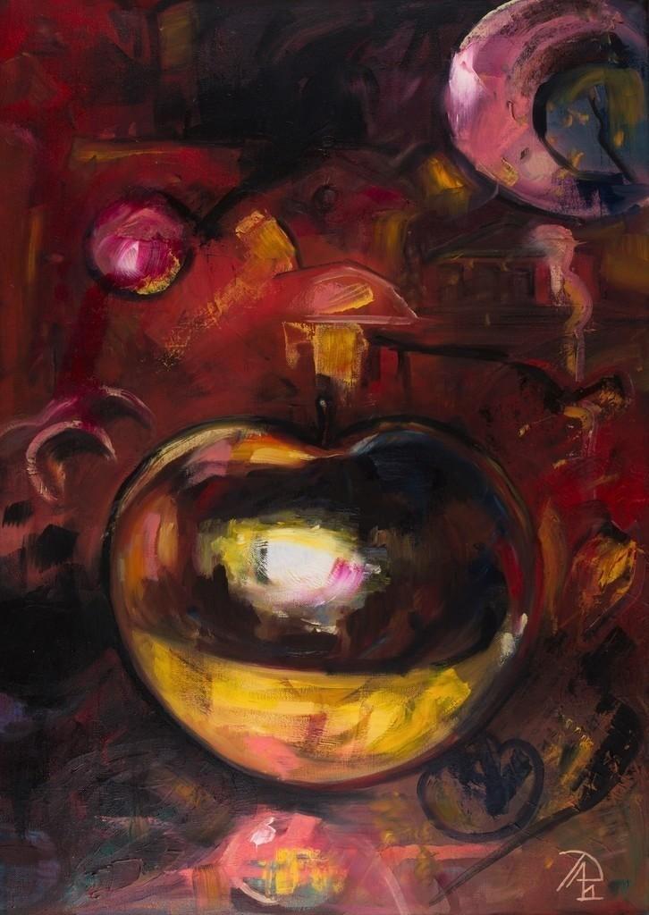 Der goldene Apfel | Originalformat: 70x50cm  -  Produktionsjahr: 2011