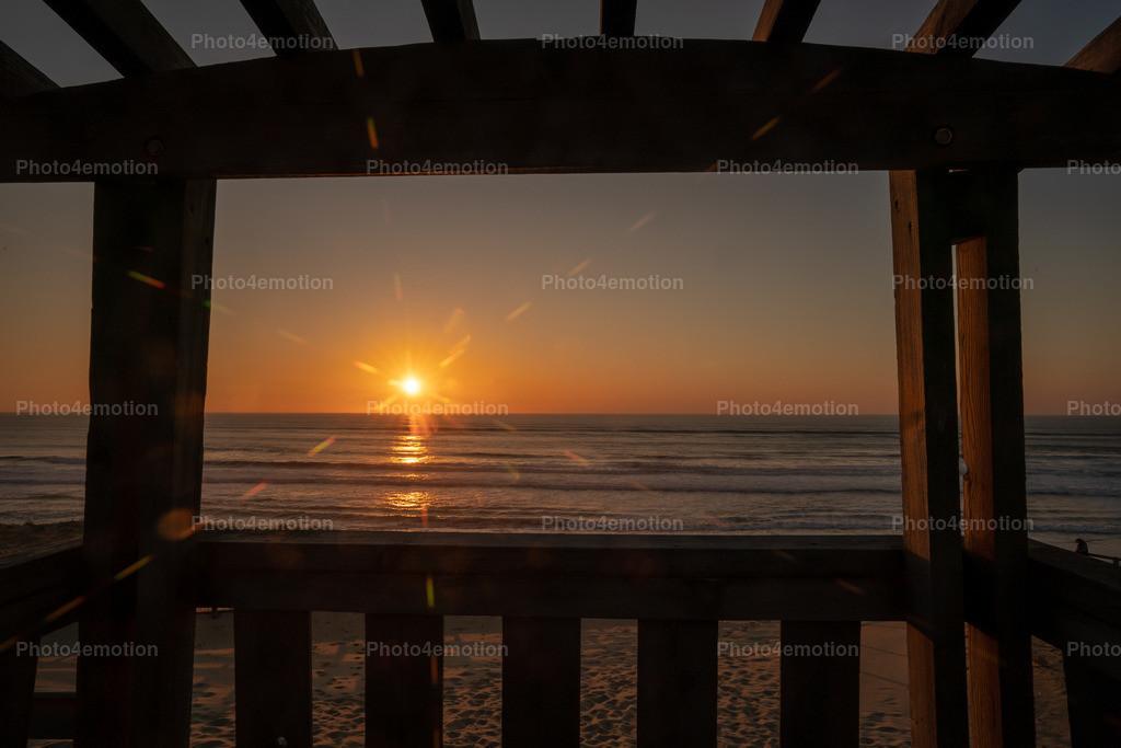 Sonnenuntergang auf dem Hochsitz