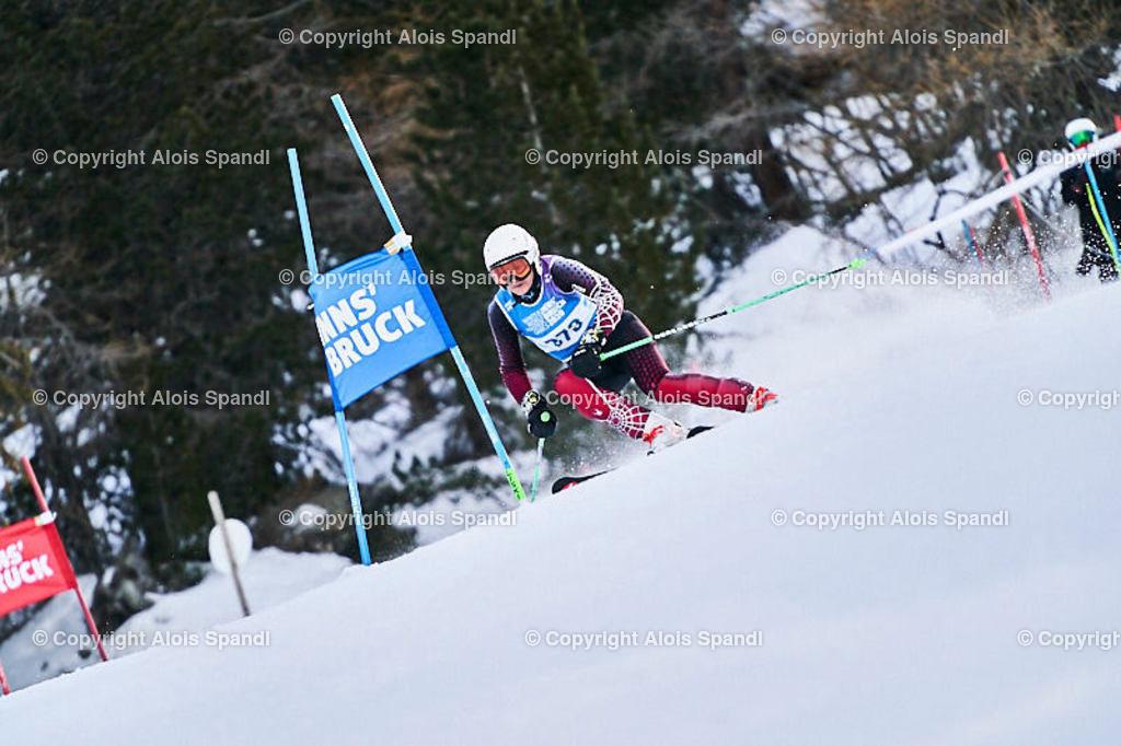 ALS5521_WWMG_GS-II_C | (C) FotoLois.com, Alois Spandl, WinterWorldMastersGames 2020 Innsbruck, Giant Slalom-II Gruppe C Damen, Patscherkofel Olympiaabfahrt, Mi 15. Jänner 2020.
