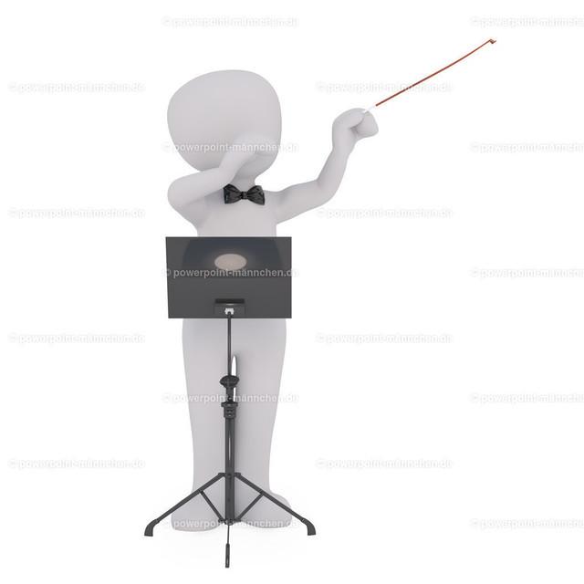 conducting a concert