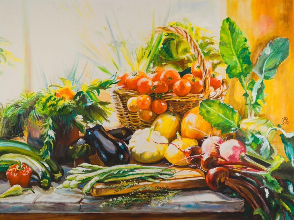 Stillleben mit Gemüse   Originalformat: 60x80cm  -  Produktionsjahr: 2006