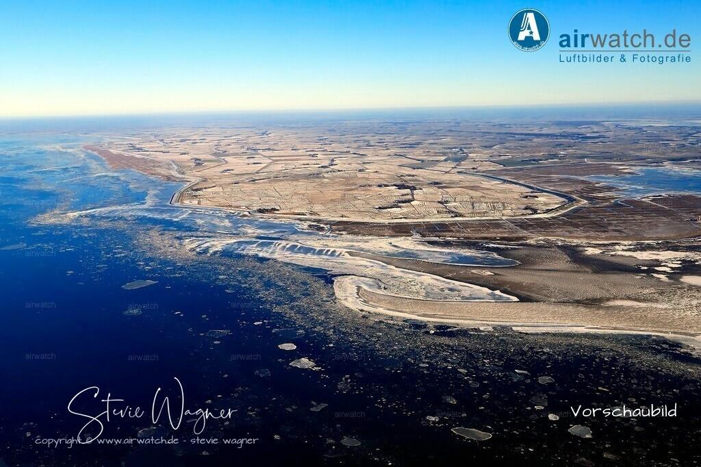 Winter Luftbilder, Nordsee, Nordfriesland, Eiderstedt, Westerhever   Winter Luftbilder, Nordsee, Nordfriesland, Eiderstedt, Westerhever