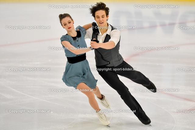 AUT, Eiskunstlaufen, Junior Grand Prix of Figure Skating 2021/2022 | 07.10.2021, Eishalle Linz, AUT, Eiskunstlaufen, Junior Grand Prix of Figure Skating 2021/2022, im Bild Darya Grimm und Michail Savitskiy (GER) - Junior Ice Dance Rhythm Dance