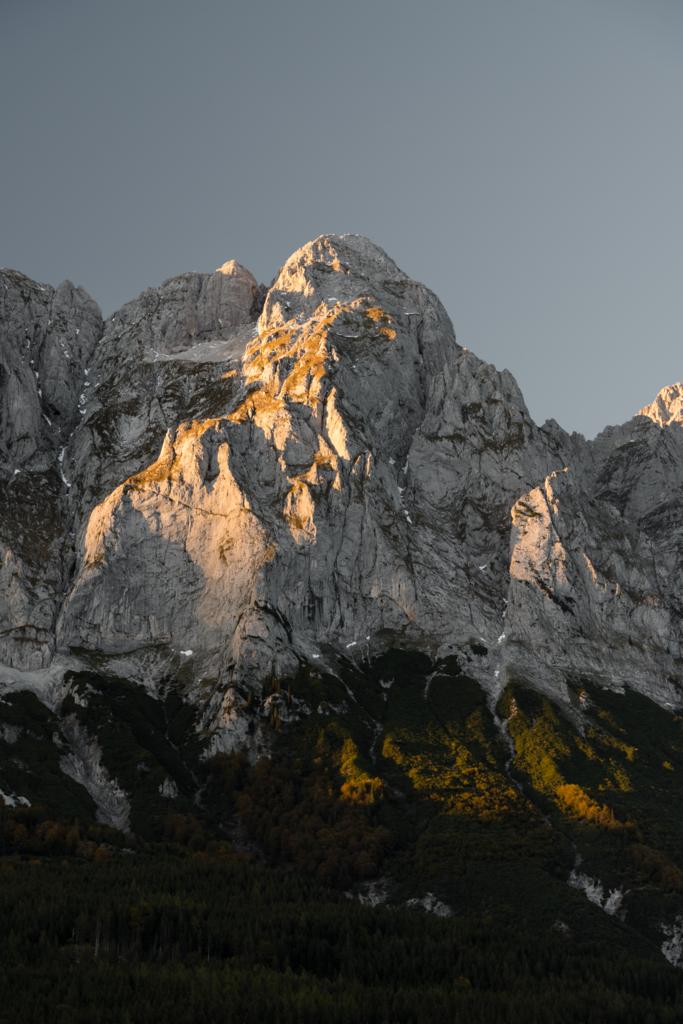 Schartenspitze | Schartenspitze (Grimming) bei Sonnenuntergang.