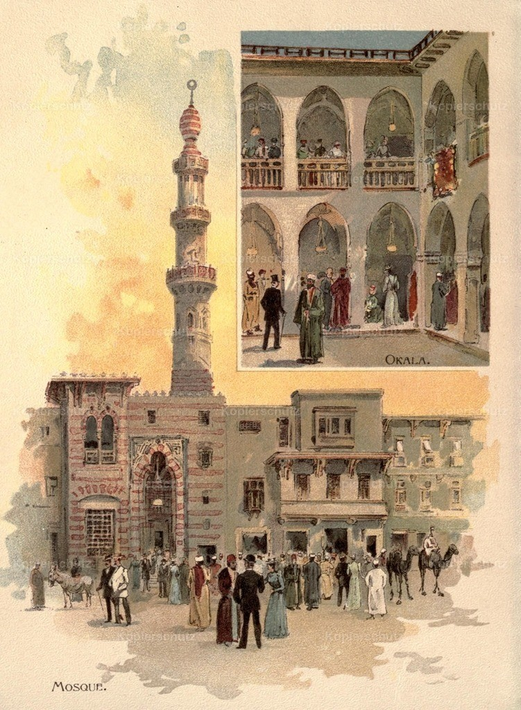 Graham_ Charles (1852-1911) - Street in Cairo 1893 - Mosque