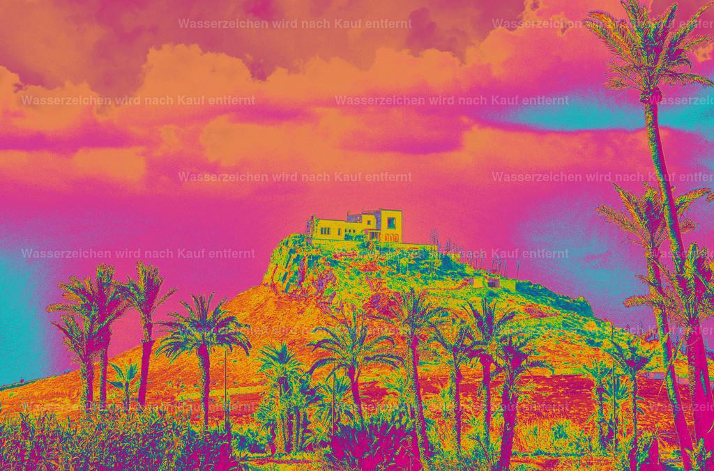 Belle Vue | Coloriertes Kunstwerk, Marokko, Marrakesch, Photokunst, Kunstwerk, wallpaper, art