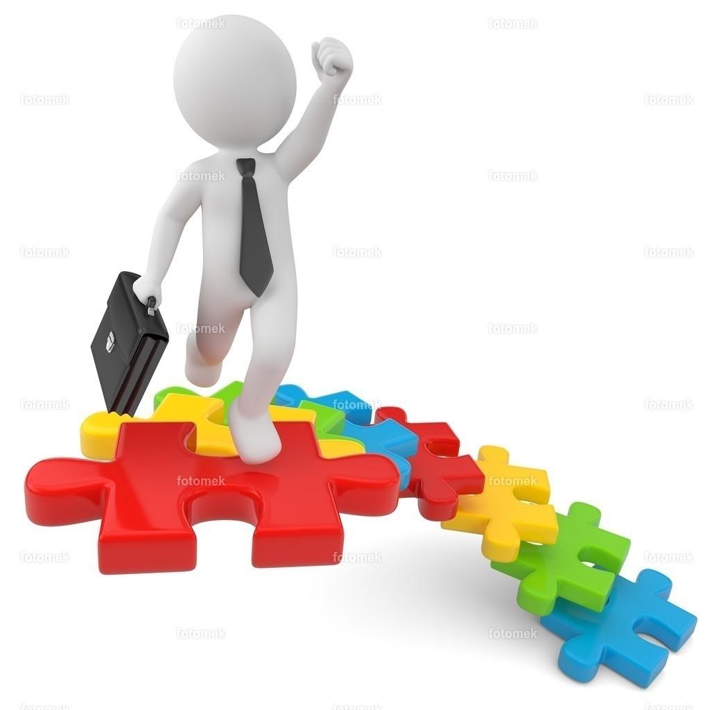 Aufstieg Erfolg Puzzle